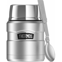 Thermos Stainless Steel Food Jar With Folding Spoon Stainless Steel