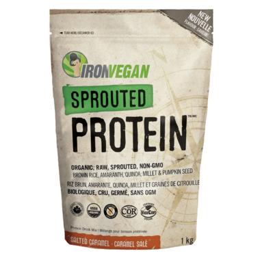 Iron Vegan Sprouted Protein Powder Salted Caramel