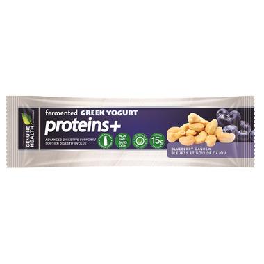 Genuine Health fermented GREEK YOGURT proteins+ Bar Blueberry Cashew
