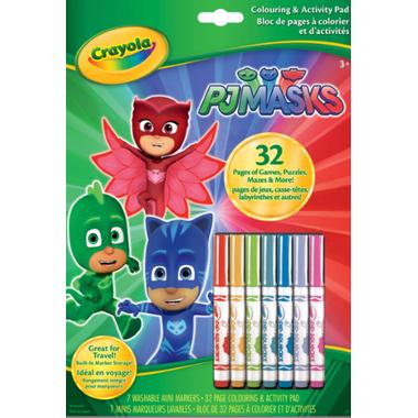 Crayola PJ Masks Colouring and Activity Pad