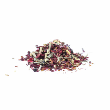 JusTea Herbal Pyramid Tea Bags Little Berry Hibiscus