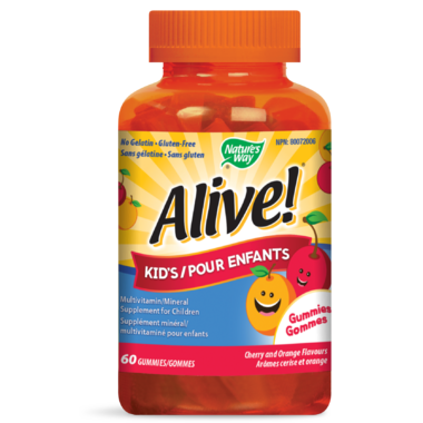 Nature\'s Way Alive! Kid\'s Gummies MultiVitamin & Mineral Supplement