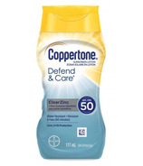 Coppertone Defend & Care ClearZinc Sunscreen Lotion Water Resistant SPF 50