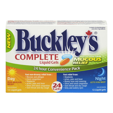 Buckley\'s Complete Liquid Gels Day + Night Pack