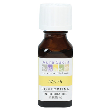 Aura Cacia Myrrh Essential Oil Blended with Jojoba Oil