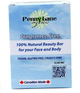 Penny Lane Organics 100% Natural Beauty Bar Fragrance Free