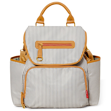 Skip Hop Grand Central Take- it- All Diaper Backpack French Stripe