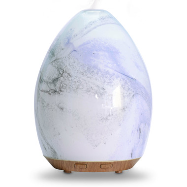 NOW Solutions Ultrasonic Glass Swirl USB Oil Diffuser