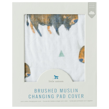 Little Unicorn Brushed Changing Pad Cover Bison