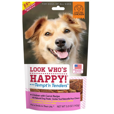Look Who\'s Happy Chicken & Carrot Crusted Dog Treats