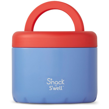 S\'nack x S\'well Blue Cornflower Food Container