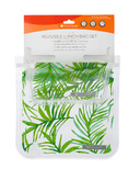 Full Circle Ziptuck Reusable Lunch Bag Set Palm Leaves