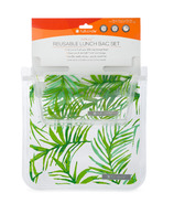 Full Circle Ziptuck Reusable Lunch Bag Set Palm Leaves
