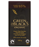 Green & Black's Organic 85% Dark Chocolate Bar