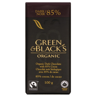 Green & Black\'s Organic 85% Dark Chocolate Bar