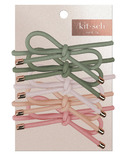 kitsch Bow Hair Ties Blush and Mauve