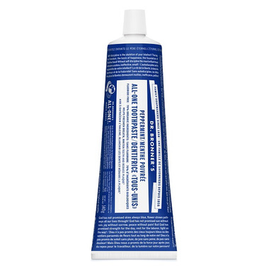 Dr. Bronner\'s Magic Soap Peppermint ALL-ONE Toothpaste