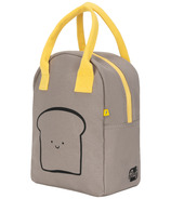 Fluf Zippered Lunch Happy Bread Grey