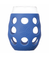 Lifefactory Small Wine Glasses with Cobalt Silicone Sleeve