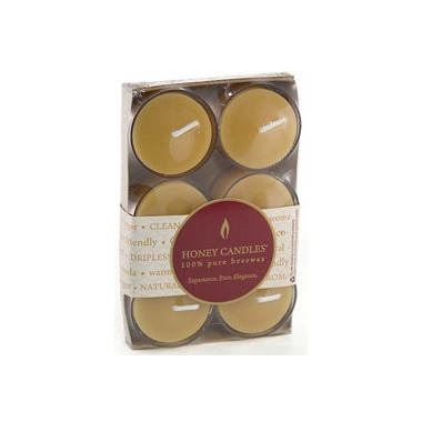 Honey Candles Beeswax Tealight Clear Cup