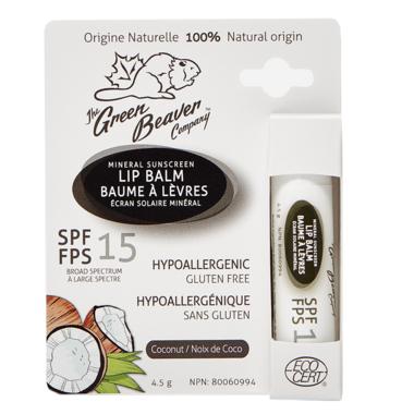 Green Beaver Lip Balm Coconut SPF15