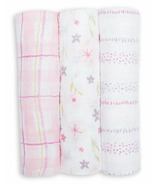 Lulujo Cotton Swaddle Pink Floral