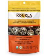 Koukla Delights Super Bouchées aux canneberges et à l'érable