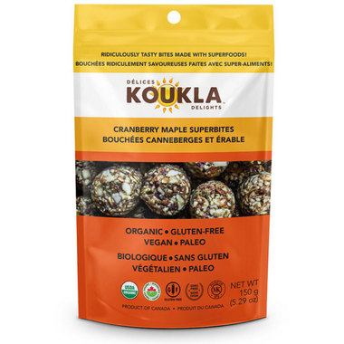 Koukla Delights Cranberry Maple Superbites
