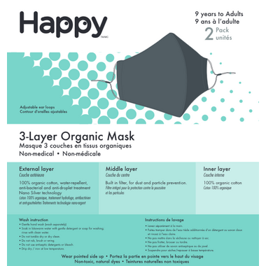 Happy 3-Layer Face Mask Navy