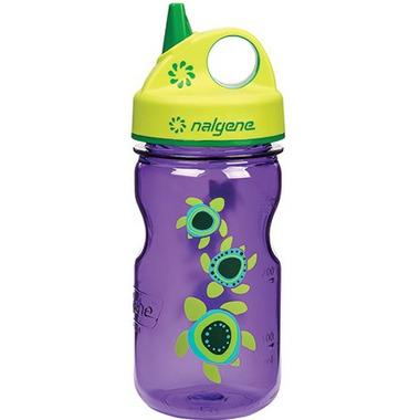 Nalgene 12 Ounce Grip-n-Gulp Bottle Purple with Sea Turtle Art