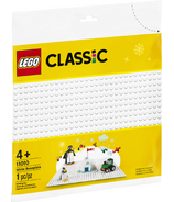 LEGO Classic White Baseplate Building Plate for Kids