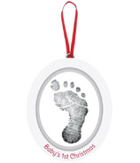 Pearhead Babyprints Wooden Oval Photo Ornament