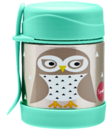 3 Sprouts Stainless Steel Food Jar Owl