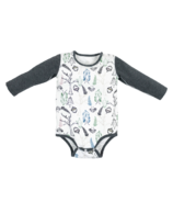 Nest Designs Organic Cotton Long Sleeve Onesie Fresh Forest