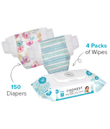 The Honest Company Rose Blossom & Teal Tribal Diapers & Wipes Bundle Size 5