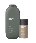 method Men Cedar + Cypress Aluminum Free Deodorant and Body Wash Bundle
