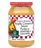 Sauce pomme-cannelle biologique d'Eden Foods