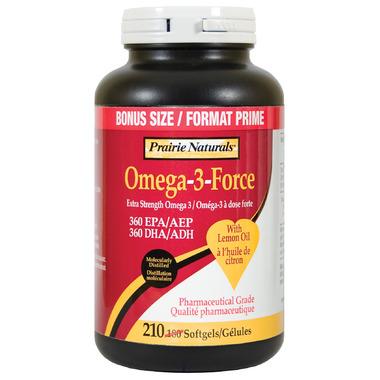 Prairie Naturals Omega-3-Force with Lemon Oil Bonus Pack