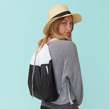 flip & tumble Drawstring Backpack Black