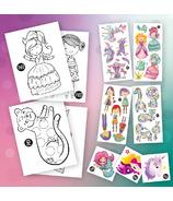 PiCO Surprise Kit Gorgeous avec pages à colorier & Tatouages temporaires