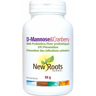 New Roots Herbal D-Mannose & Cranberry with Probiotics