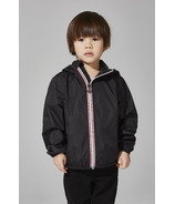 O8 Lifestyle Kid's Full Zip Packable Jacket Black