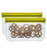 (re)zip Lay-Flat Reusable Snack Storage Bag Moss