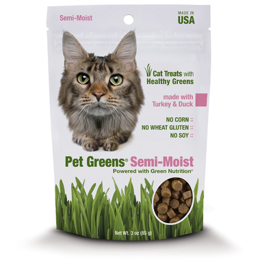 Pet Greens Semi-Moist Cat Treats with Turkey & Duck
