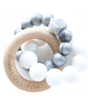 Loulou Lollipop Trinity Wood & Silicone Teether Metallic