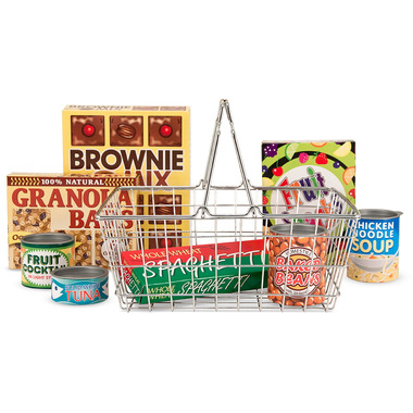 Melissa & Doug Let\'s Play House! Grocery Basket with Play Food