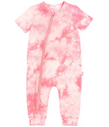Miles Baby Pink Tie Dye Short Sleeve Playsuit