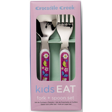 Crocodile Creek Cutlery Set Backyard Friends