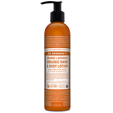 Dr. Bronner\'s Organic Lotion For Hands and Body Orange Lavender