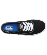 Keds Big Kids Champion Black Canvas